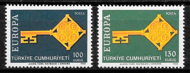 sellos Europa 1968 Turquia