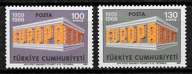 sellos Europa Turquia 1969