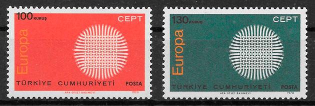 filatelia coleccion Turquia Europa 1970