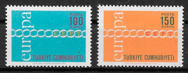 filatelia coleccion Turquia Europa 1971