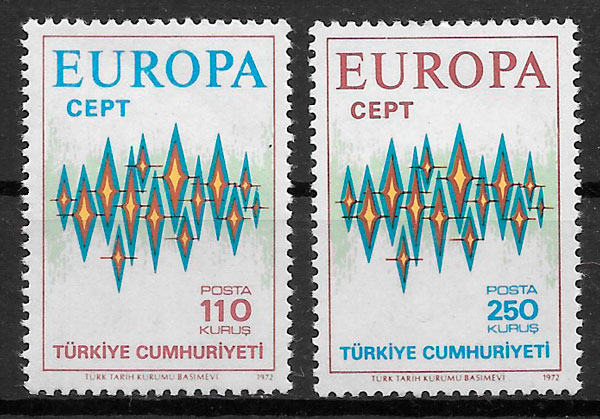 filatelia coleccion Europa Turquia 1972