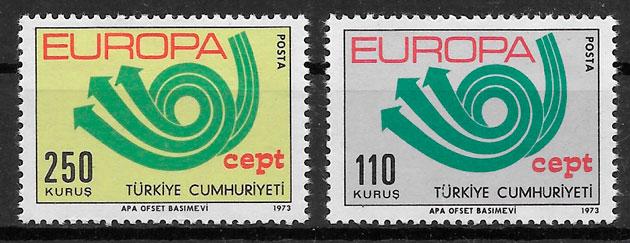 filatelia coleccion Europa Turquia 1973