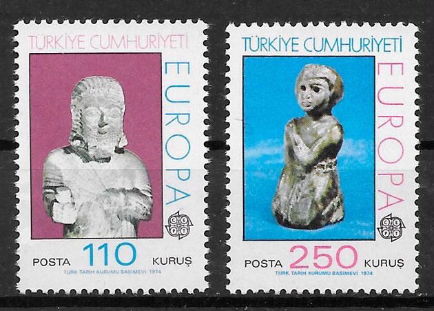coleccion sellos Europa Turquia 1974