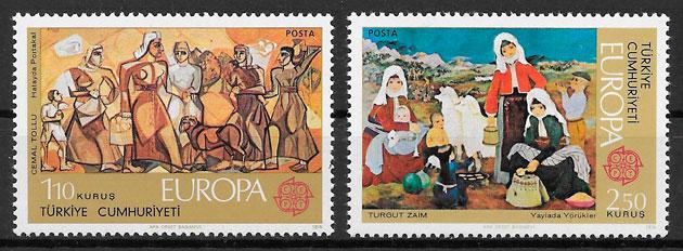 coleccion sellos Europa Turquia 1975