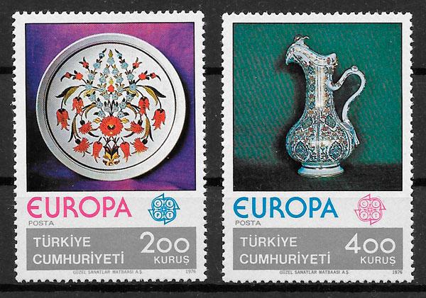 coleccion sellos Europa Turquia 1976