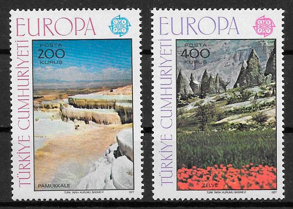 sellos Europa 1977 Turquia