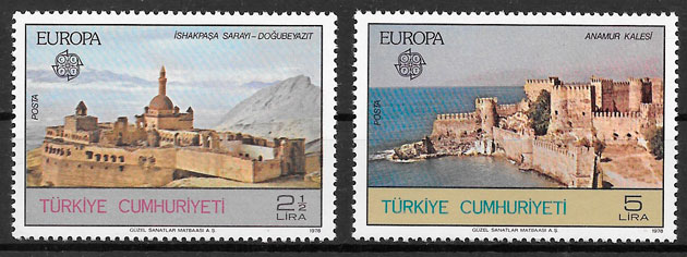 coleccion sellos Europa Turquia 1978