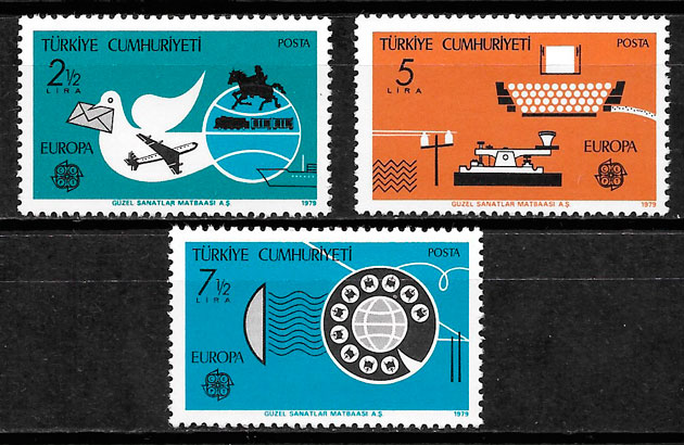 sellos Europa Turquia 1979