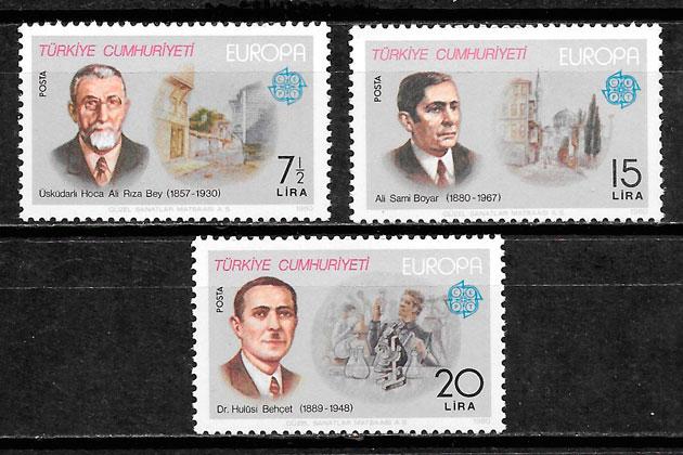 sellos Europa Turquia 1980