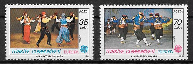 sellos Europa Turquia 1981