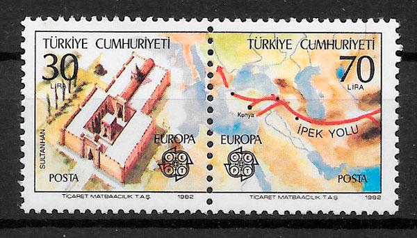 sellos Europa Turquia 1982