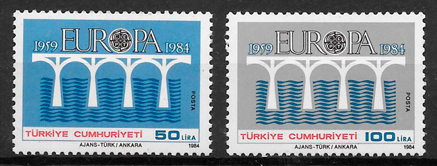 filatelia Europa Turquia 1984