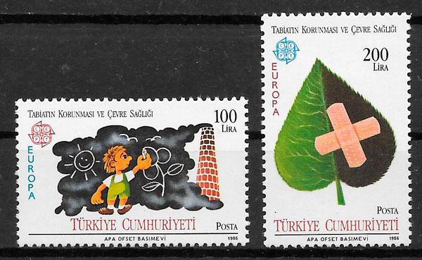 filatelia Europa Turquia 1986