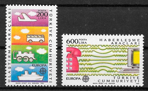 filatelia Europa Turquia 1988
