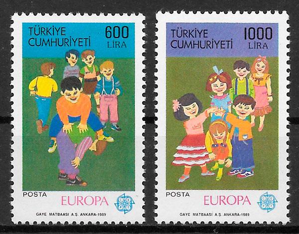 filatelia Europa Turquia 1989
