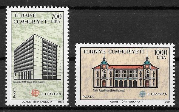filatelia Europa Turquia 1990