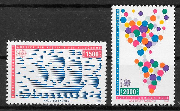 filatelia Europa Turquia 1992
