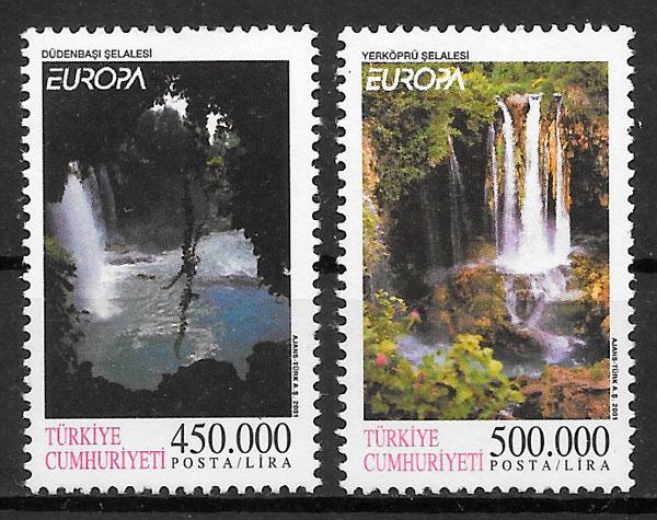 filatelia Europa Turquia 2001