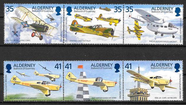 sellos transporte Alderney 1995