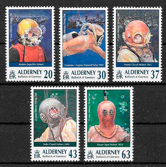 filatelia temas varios Alderney 1998