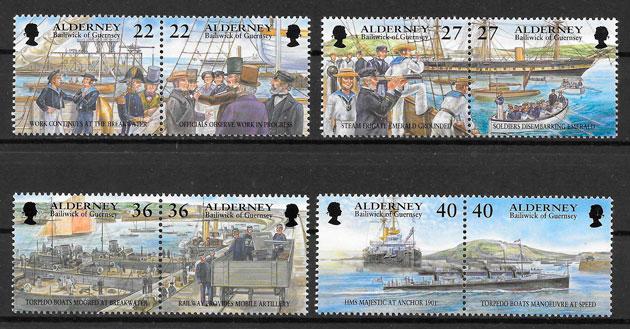 sellos temas varios Alderney 2001