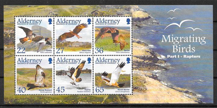 sellos fauna Alderney 2002