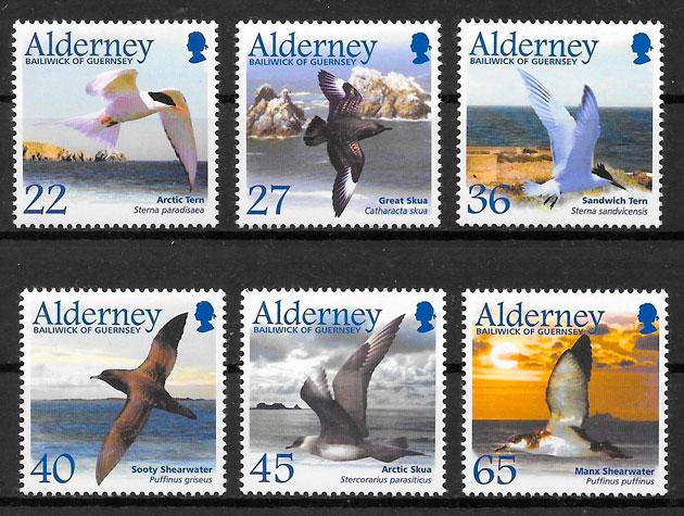 sellos fauna Alderney 2003