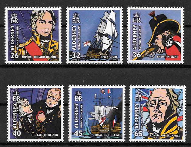 colección sellos temas varios Alderney 2005
