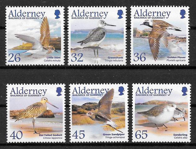 sellos fauna Alderney 2005