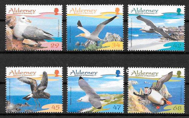 sellos fauna Alderney 2006