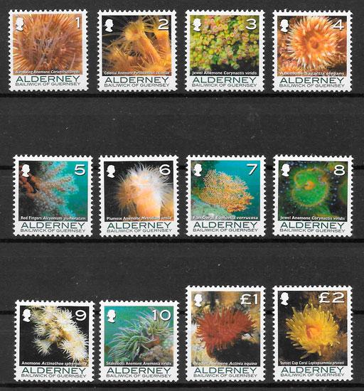 filatelia fauna Alderney 2006
