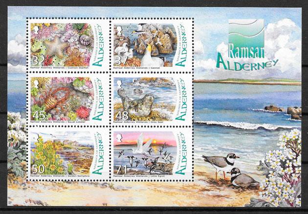 sellos fauna Alderney 2007