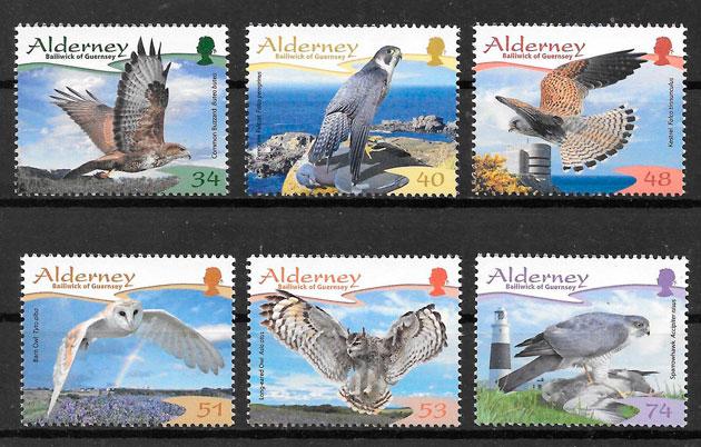 filatelia fauna Alderney 2007
