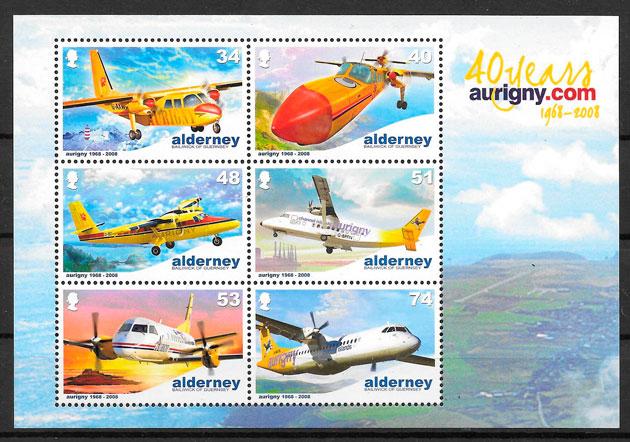 sellos transporte Alderney 2008