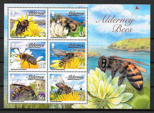 filatelia fauna Alderney 2009