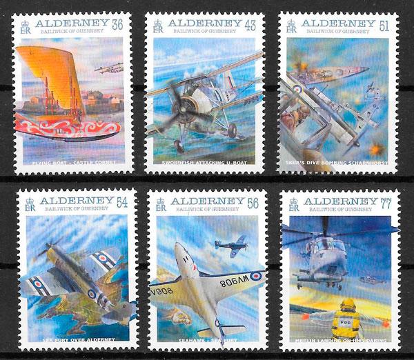 sellos transporte Alderney