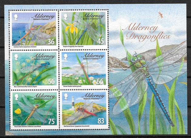 filatelia fauna Alderney 2010
