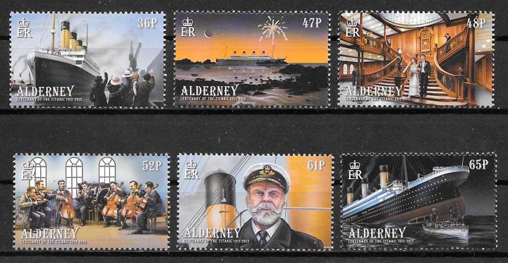 sellos transporte Alderney 2012