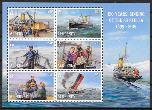 filatelia transporte Alderney 2019