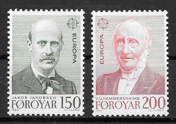 sellos Europa Fereo 1980