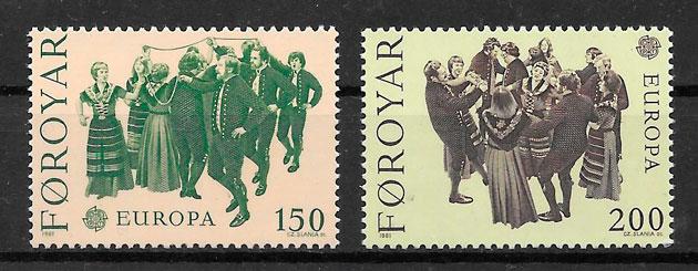 filatelia Europa Feroe 1981