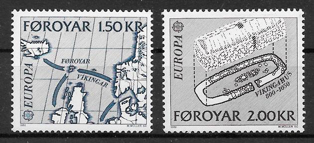 filatelia Europa 1982 Feroe
