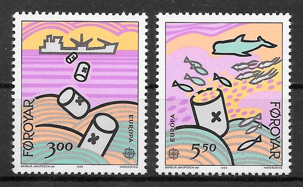 colección sellos Europa Feroe 1986