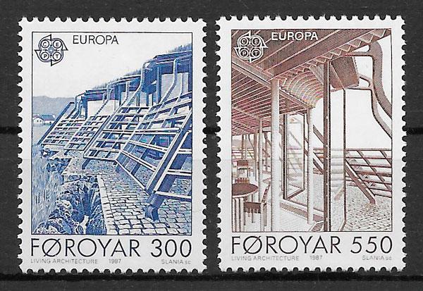 colección sellos Europa Feroe 1987