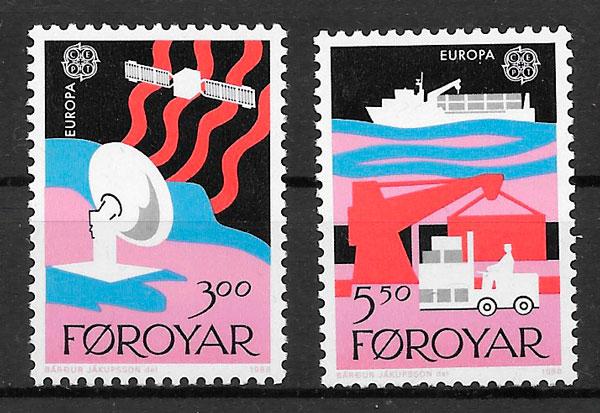 sellos Europa 1988 Feroe