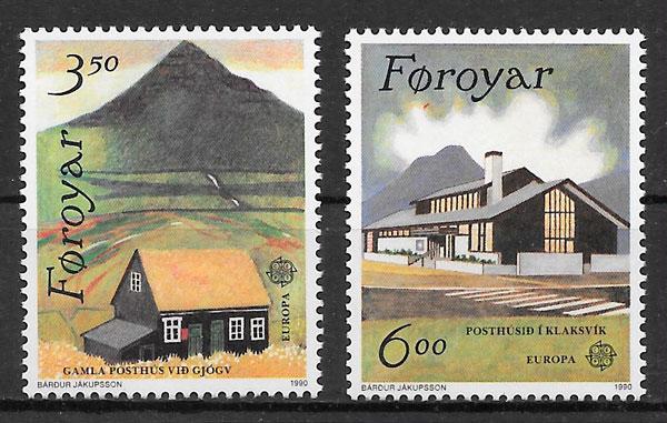filatelia colección Europa 1990 Feroe