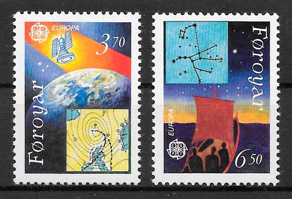 colección sellos Europa Feroe 1991