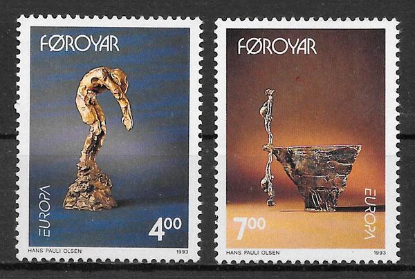 colección sellos Europa Feroe 1993
