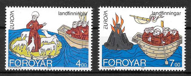sellos Europa Feroe 1994