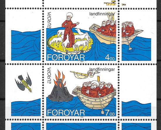 sellos Europa 1994 Feroe